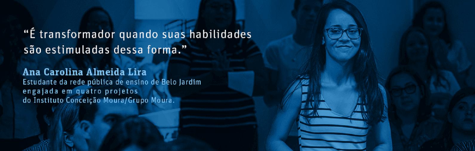 Jovens que mudaram a vida com o Instituto Conceição Moura