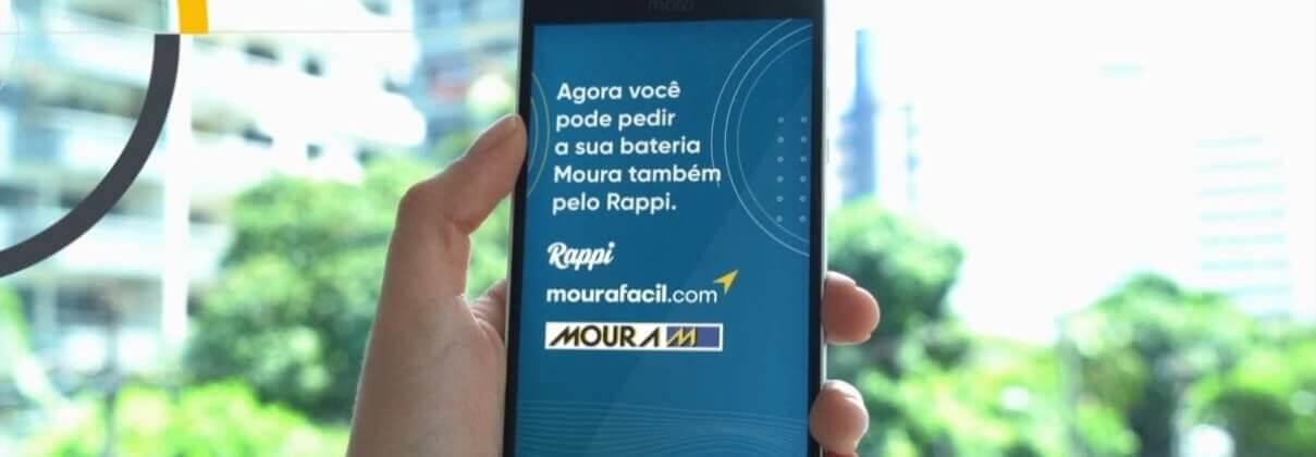 Baterias Moura agora podem ser adquiridas com ajuda da Rappi