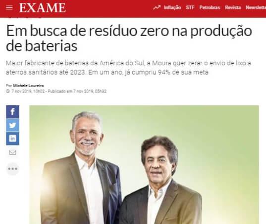 Moura é a mais sustentável no setor automotivo pelo Guia Exame
