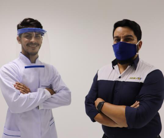 Moura inicia produção e doação de escudos faciais (face shield) utilizados por profissionais de saúde