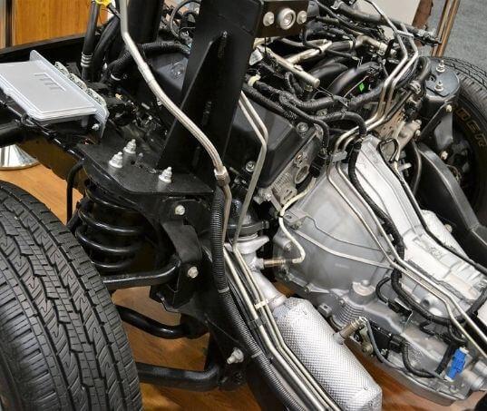 Qual é a função da bieleta para a suspensão do carro?